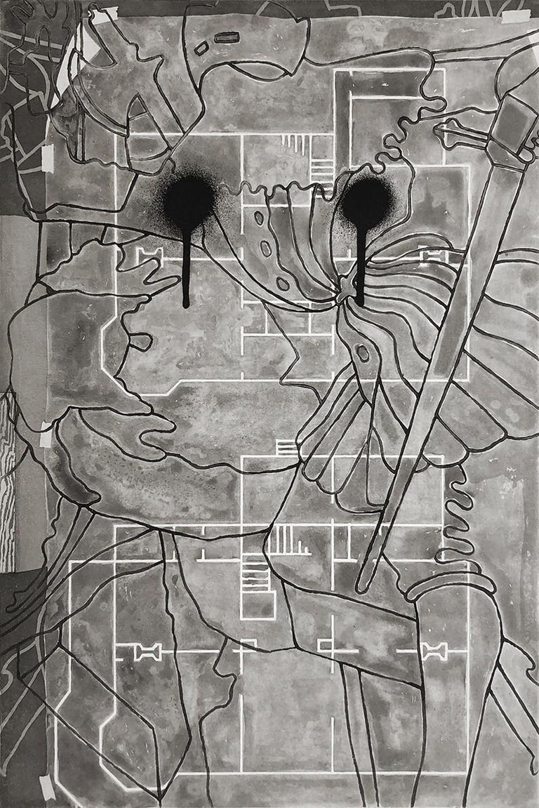 Jasper Johns Abstract Print - Untitled