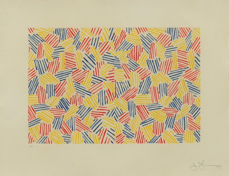 Jasper Johns Abstract Print - Untitled I
