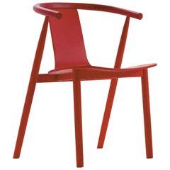 Jasper Morrison Bac Chair in Cherry Red Ash for Cappellini