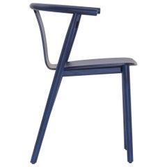 Jasper Morrison Bac Chair in Shanghai Blue Stained for Cappellini