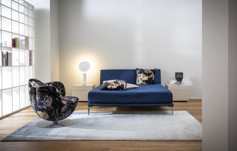 Italian Jasper Morrison Bed in Fir and Poplar Plywood and Metal Frame for Cappellini For Sale