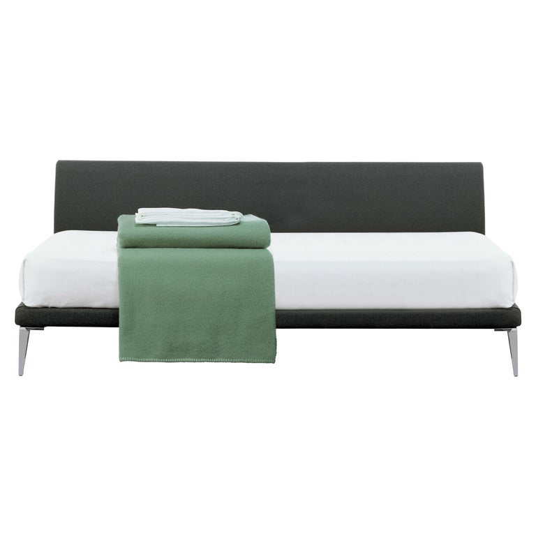 For Sale: Gray (Hallingdal 2 554) Jasper Morrison Bed in Fir and Poplar Plywood and Metal Frame for Cappellini