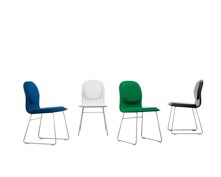 Italian Jasper Morrison Hi Pad Chair in Beech Plywood & Fabric or Leather for Cappellini For Sale