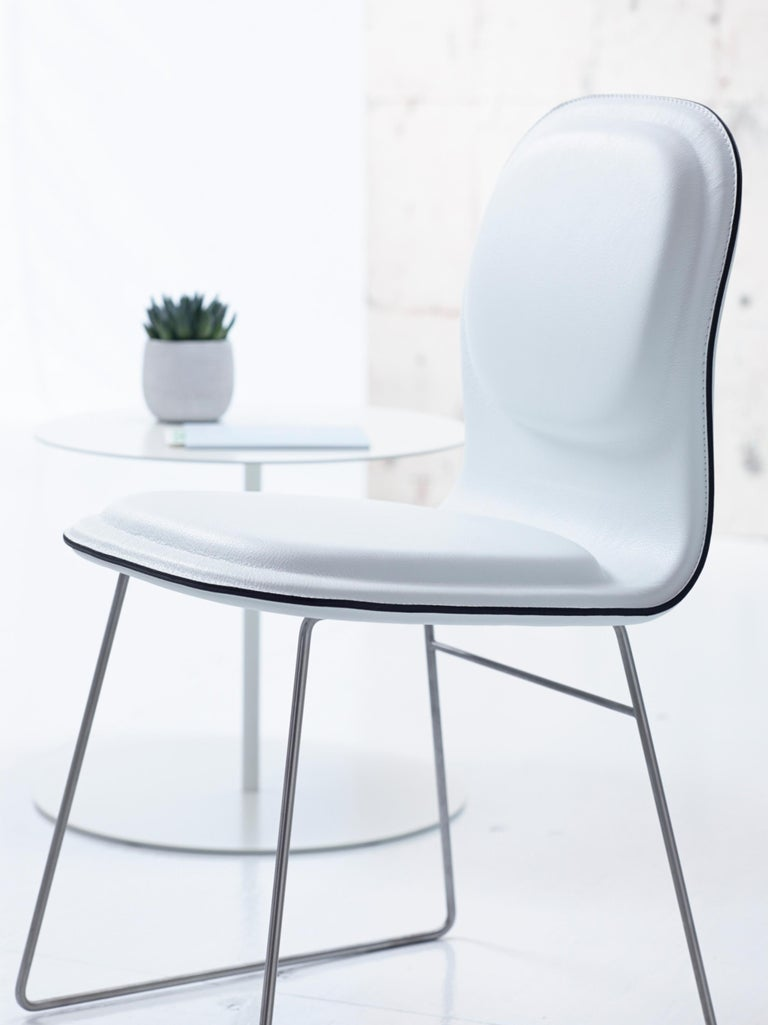 Foam Jasper Morrison Hi Pad Chair in Beech Plywood & Fabric or Leather for Cappellini For Sale