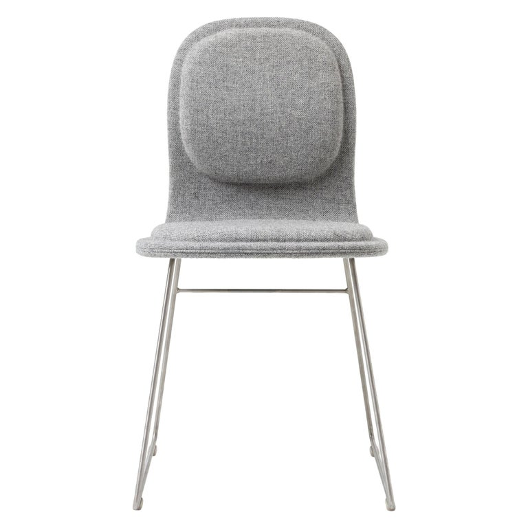 For Sale: Silver (Hallingdal 2 555) Jasper Morrison Hi Pad Chair in Beech Plywood & Fabric or Leather for Cappellini