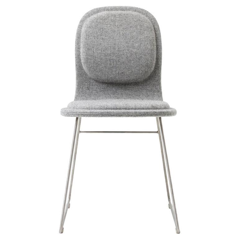 Jasper Morrison Hi Pad Chair in Blue Hallingdal Fabric for Cappellini