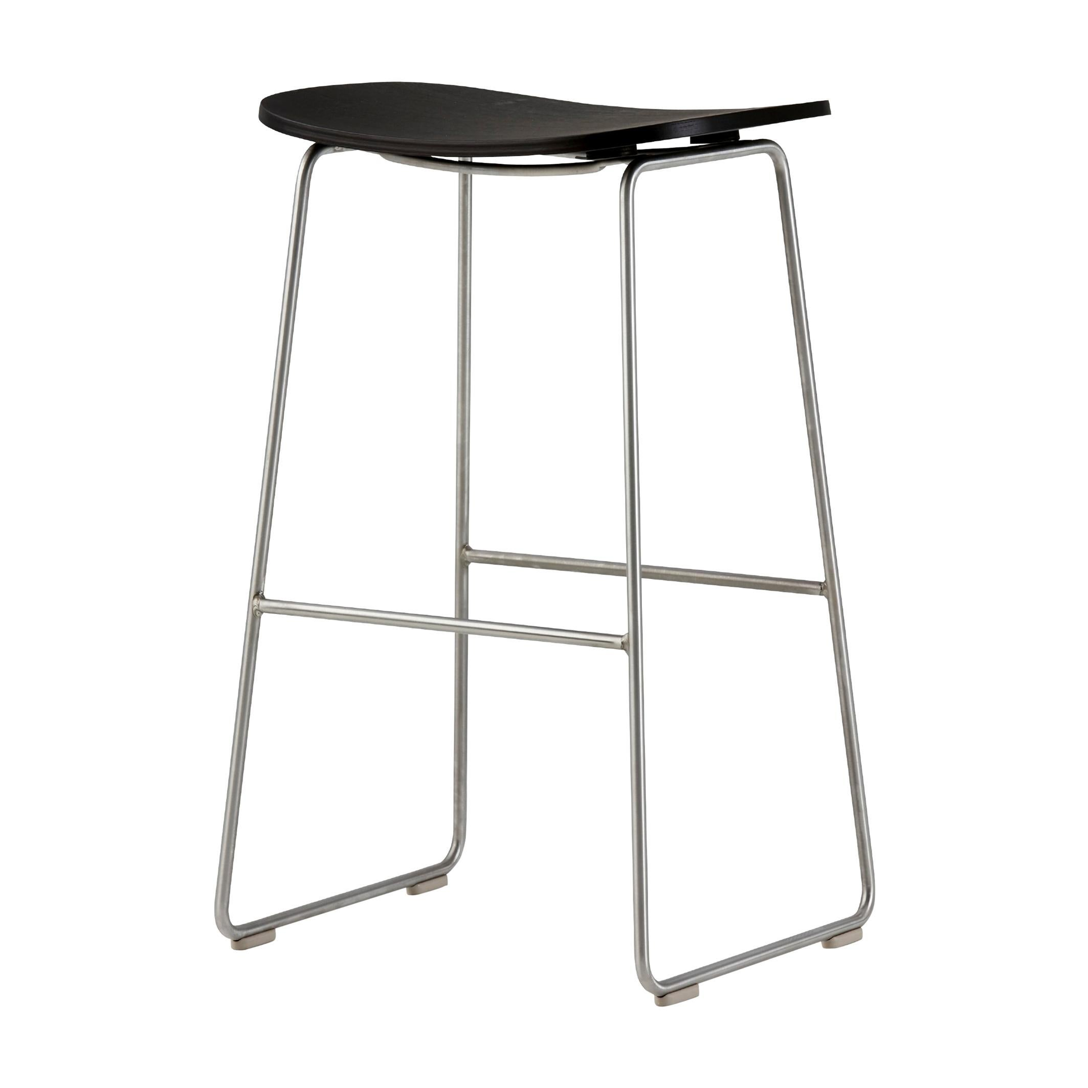 Jasper Morrison Large Morrison Stool in Ash with Fabric or Leather