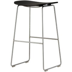 Jasper Morrison Large Morrison Stool in Black Stained Ash for Cappellini