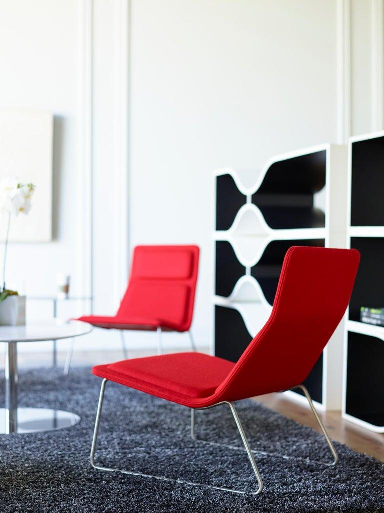 Modern Jasper Morrison Low Pad Armchair in Beech with Black Leather for Cappellini For Sale