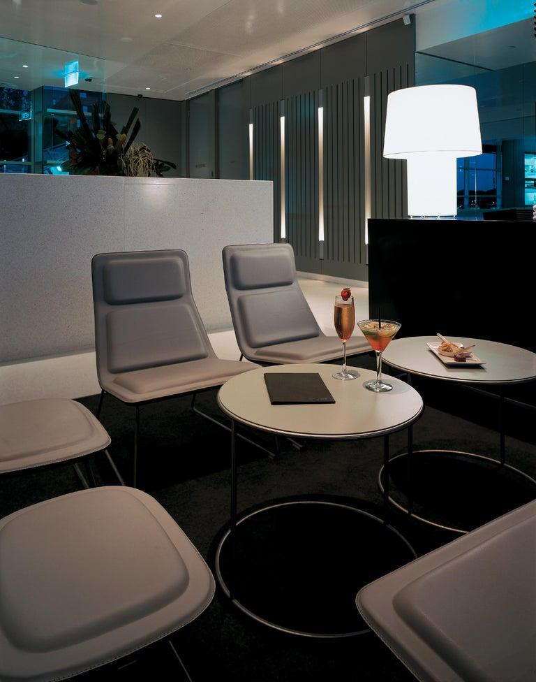 Jasper Morrison Low Pad Armchair in Beech with Black Leather for Cappellini In New Condition For Sale In New York, NY