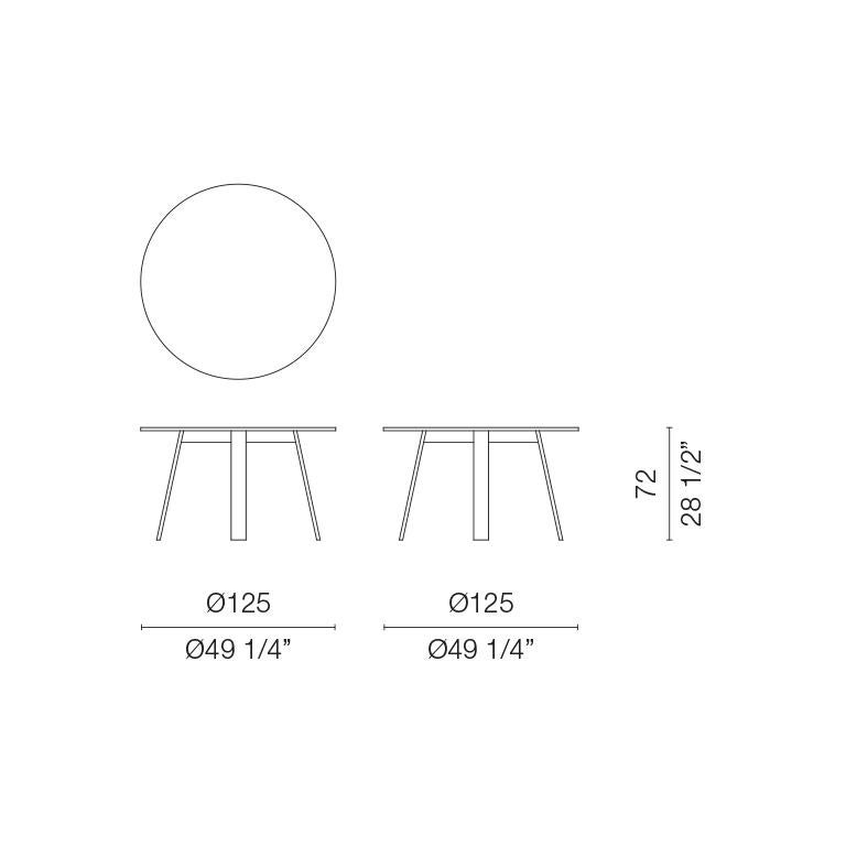 Modern Jasper Morrison Round Bac Table in Solid Ashwood for Cappellini For Sale