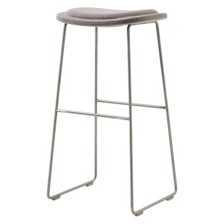 For Sale: Silver (Hallingdal 2 555) Jasper Morrison Small Hi Pad Stool in Fabric or Leather Upholstery by Cappellini