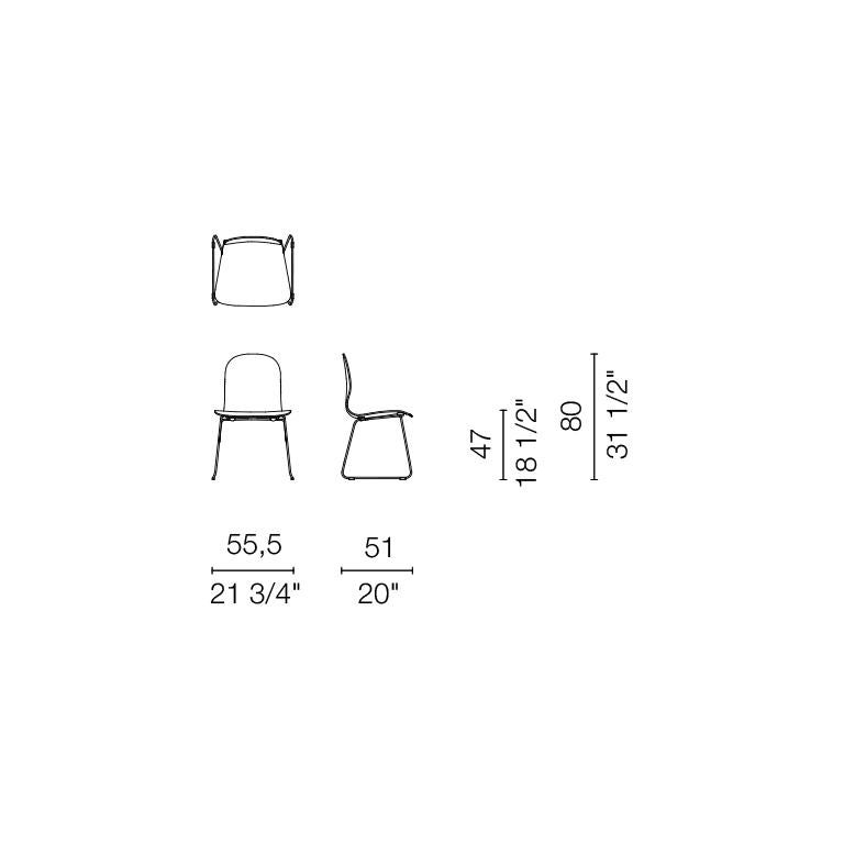 Jasper Morrison Tate Chair in Beech Plywood with Matte Lacquer for Cappellini For Sale 1