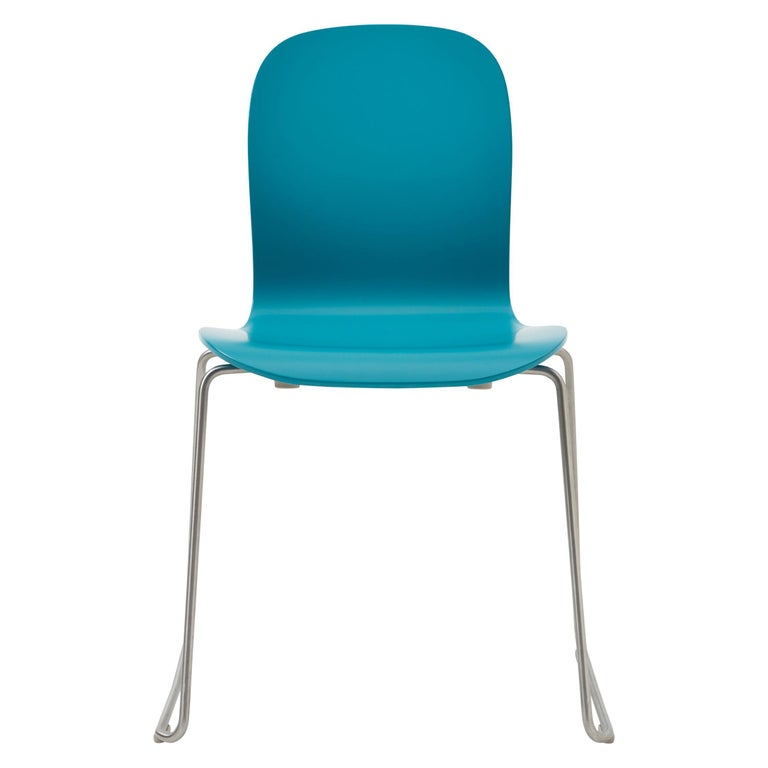 For Sale: Blue (77_PETROL BLUE) Jasper Morrison Tate Chair in Beech Plywood with Matte Lacquer for Cappellini
