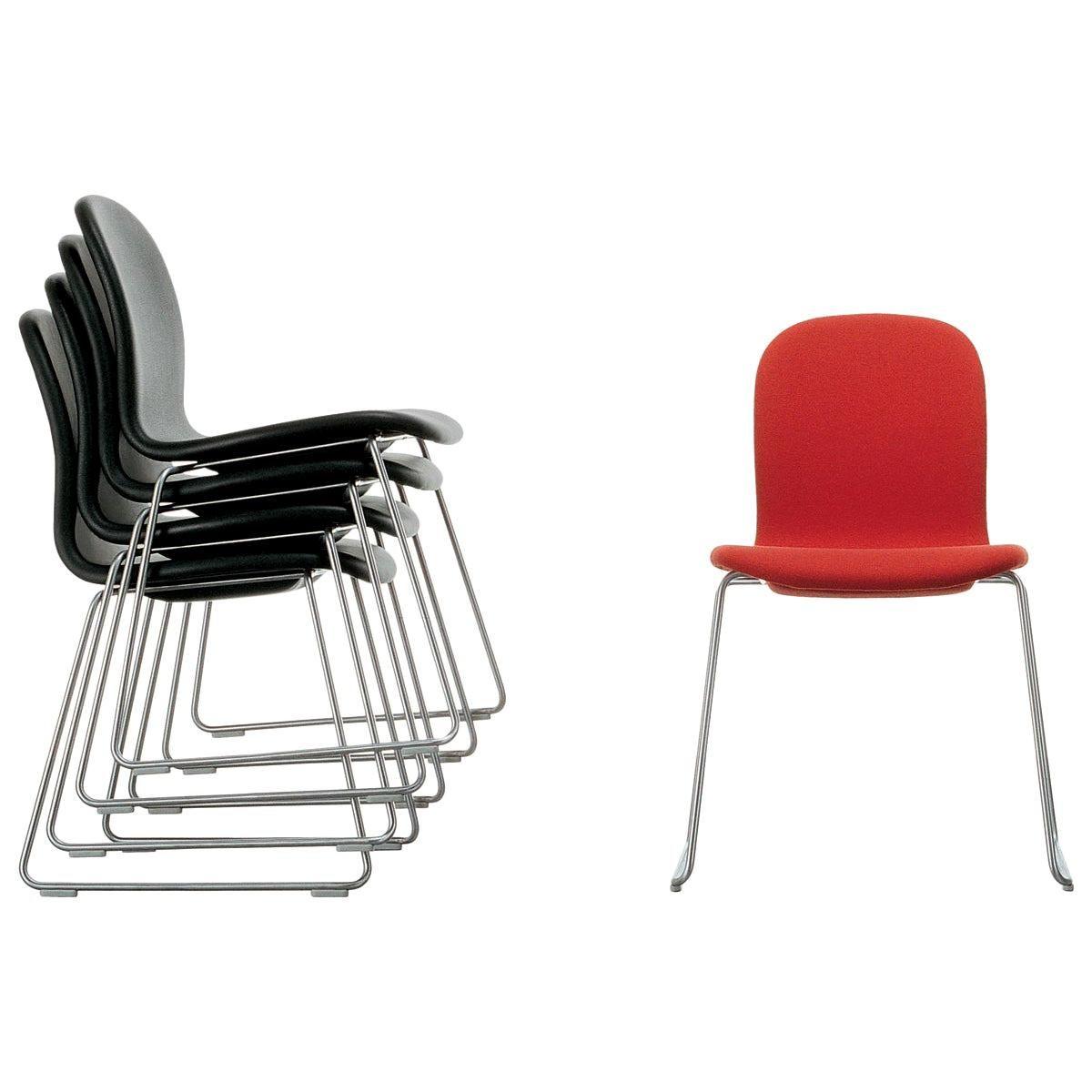 Jasper Morrison Tate Chair in Red Hero Fabric for Cappellini