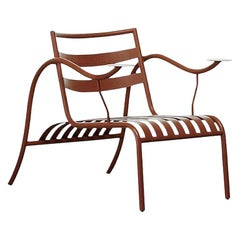 Jasper Morrison Thinking Man's Outdoor Chair in Terracotta for Cappellini