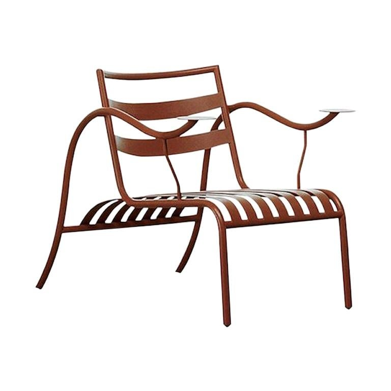 For Sale: Brown (404_terracotta) Jasper Morrison Thinking Man's Outdoor Chair in Varnished Metal for Cappellini