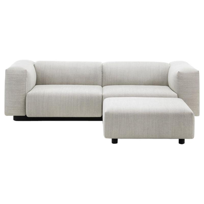 Jasper Morrison Two-Seater and Otomman Soft Modular Sofa by Vitra