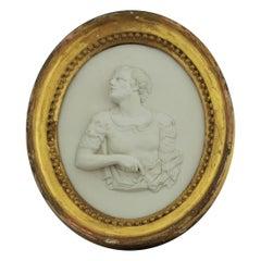 Jasperware Portrait Medallion, Marc Antony, Wedgwood, circa 1778