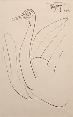 """Untitled, Ink on Paper Black & White colours by Modern Artist """"In Stock"""""""