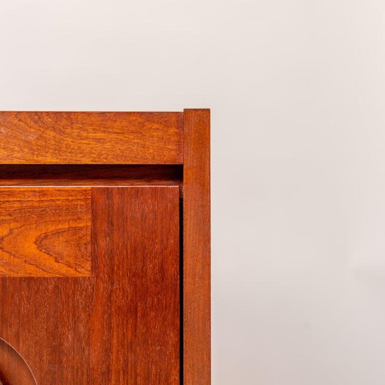 Jatoba Wooden Credenza by De Coene, Belgium, 1970s For Sale 3