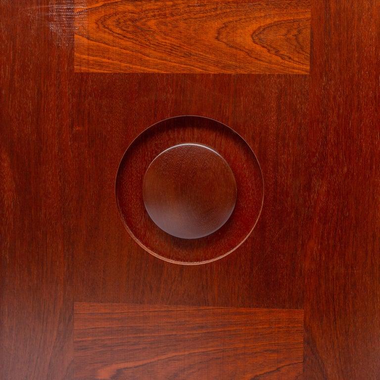 Jatoba Wooden Credenza by De Coene, Belgium, 1970s For Sale 1