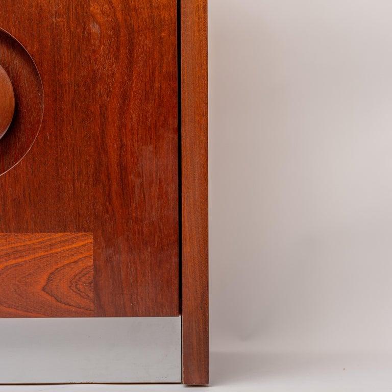 Jatoba Wooden Credenza by De Coene, Belgium, 1970s For Sale 2