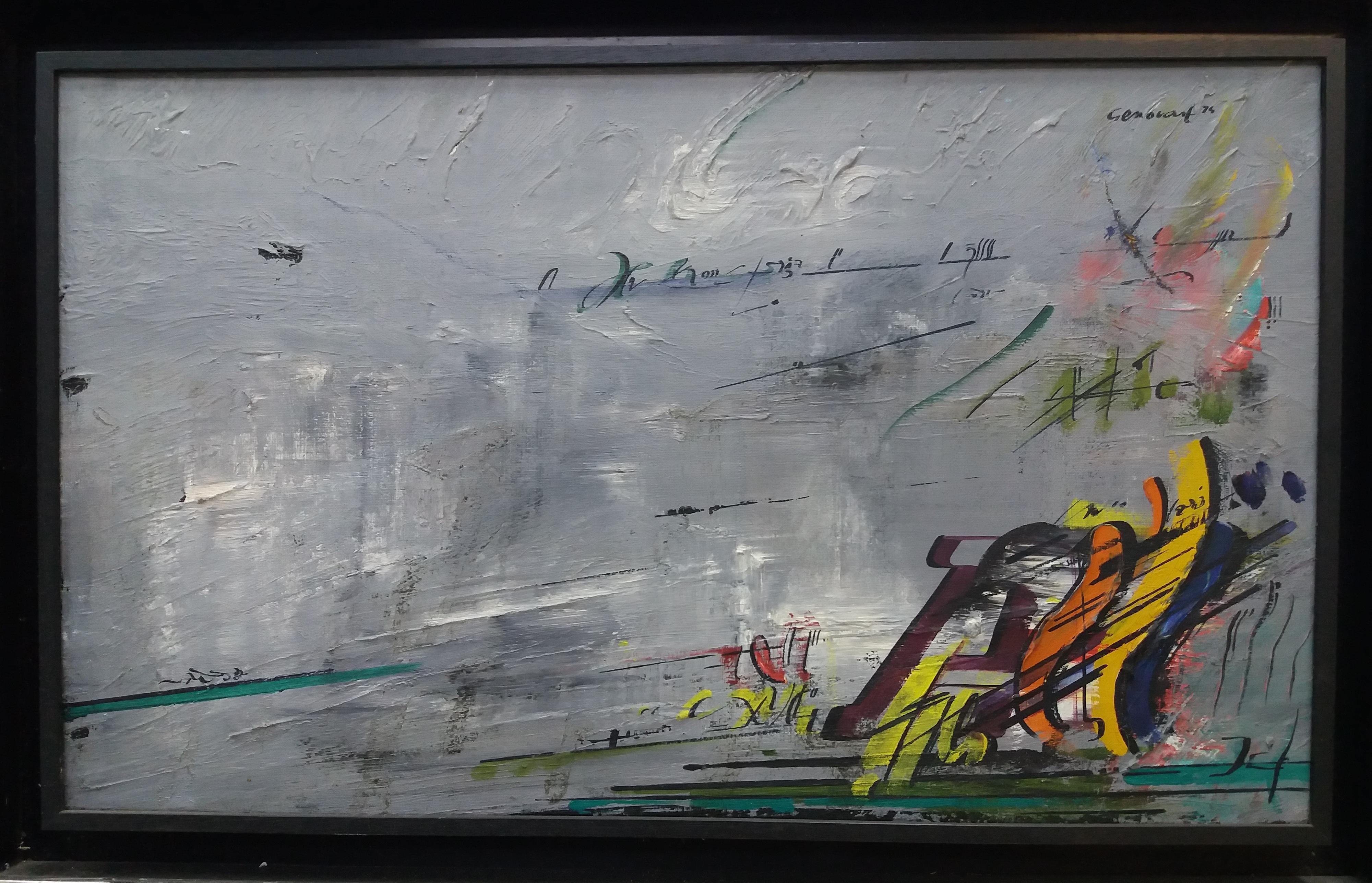 Luces original surrealist acrylic painting