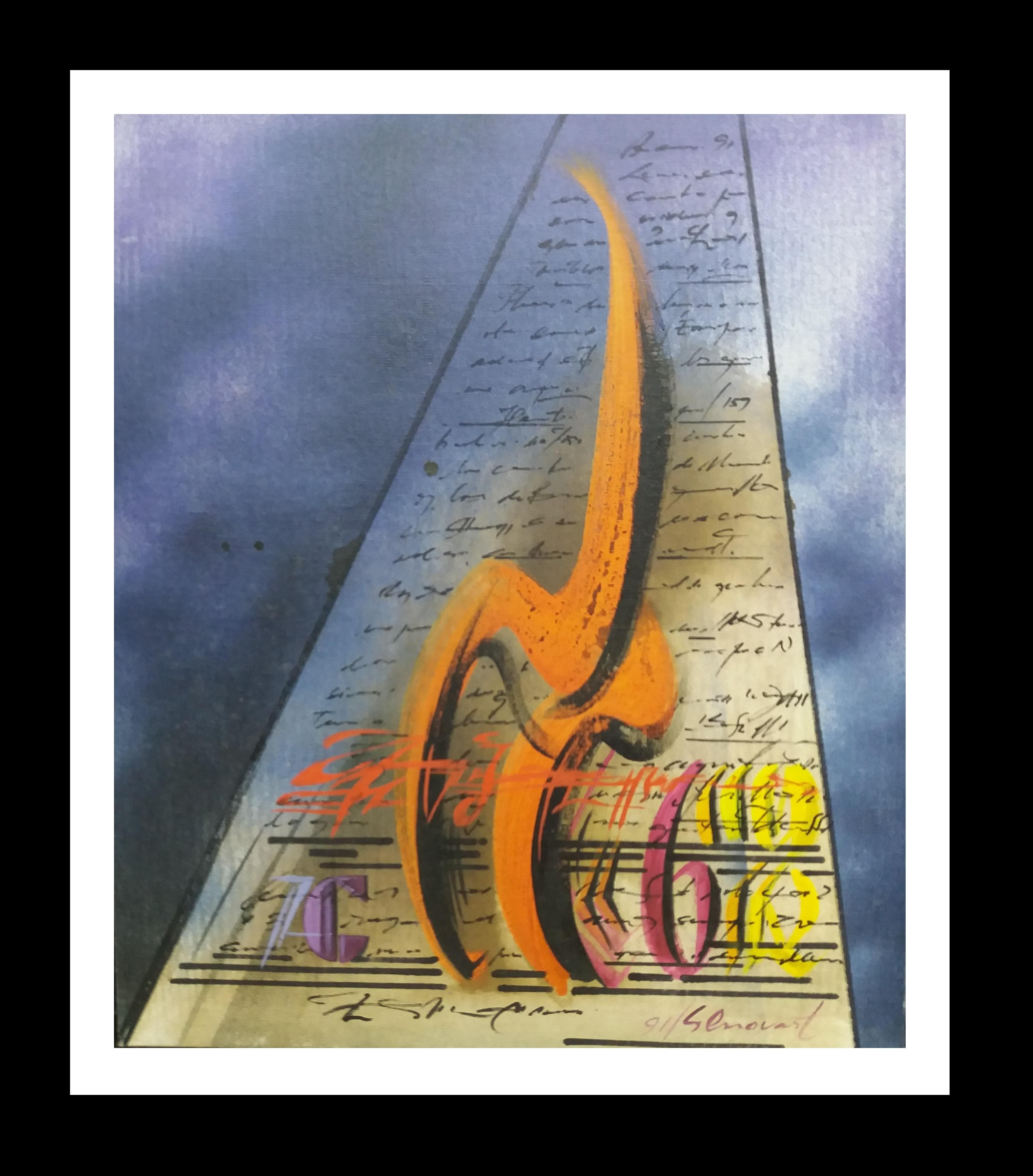 Music- Original abstract acrylic canvas painting