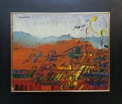 Paisaje original surrealist acrilic painting