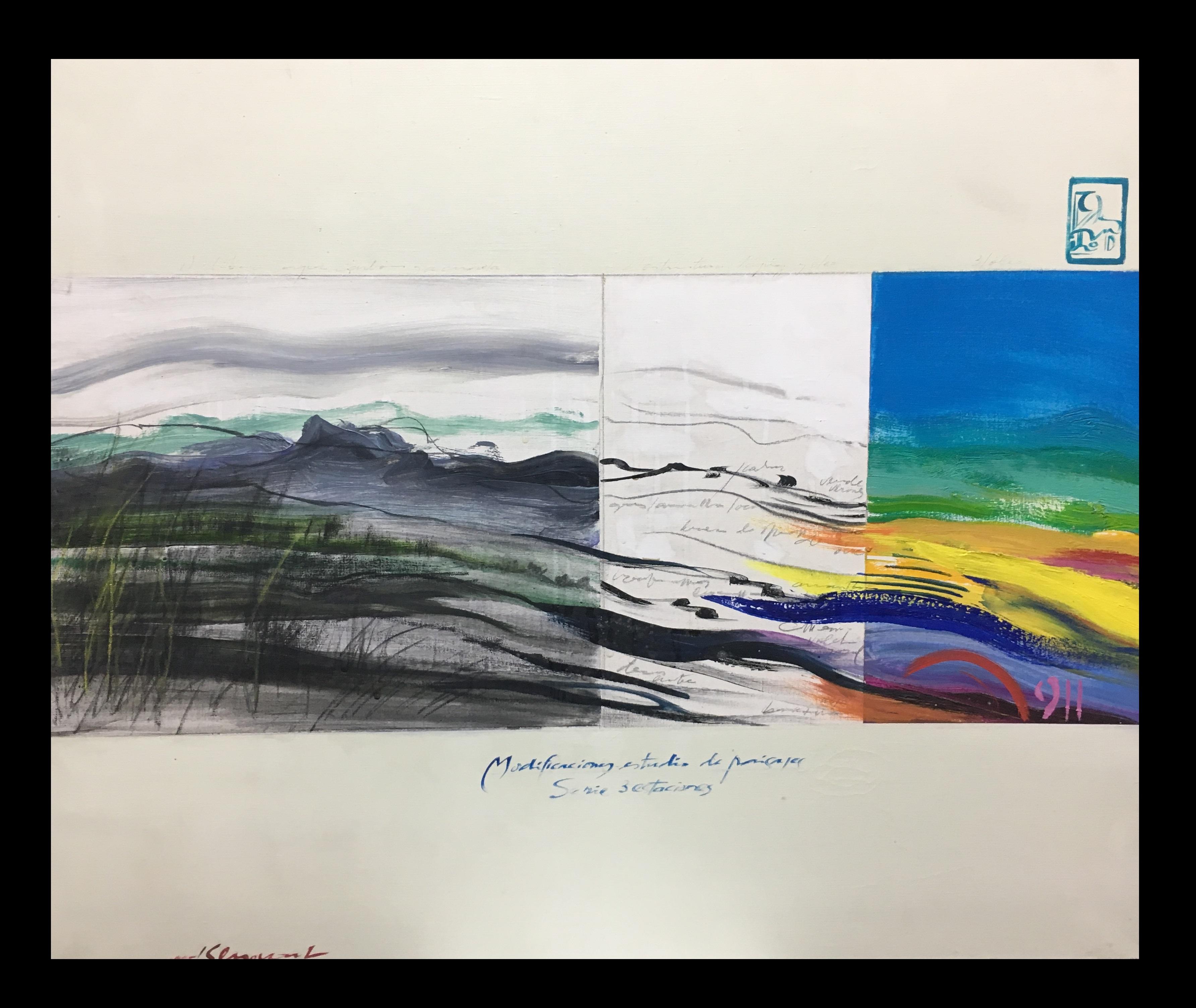 Rainbow - original abstract acrylic painting