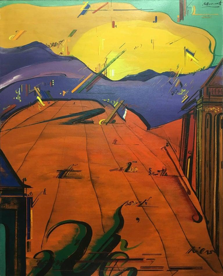 Sevilla original abstract acrylic painting - Painting by Jaume Genovart