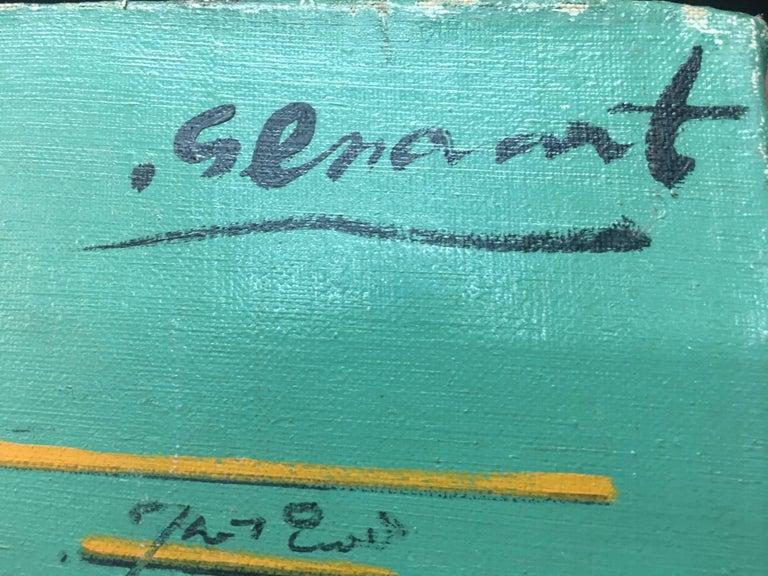 Sevilla original abstract acrylic painting - Abstract Painting by Jaume Genovart