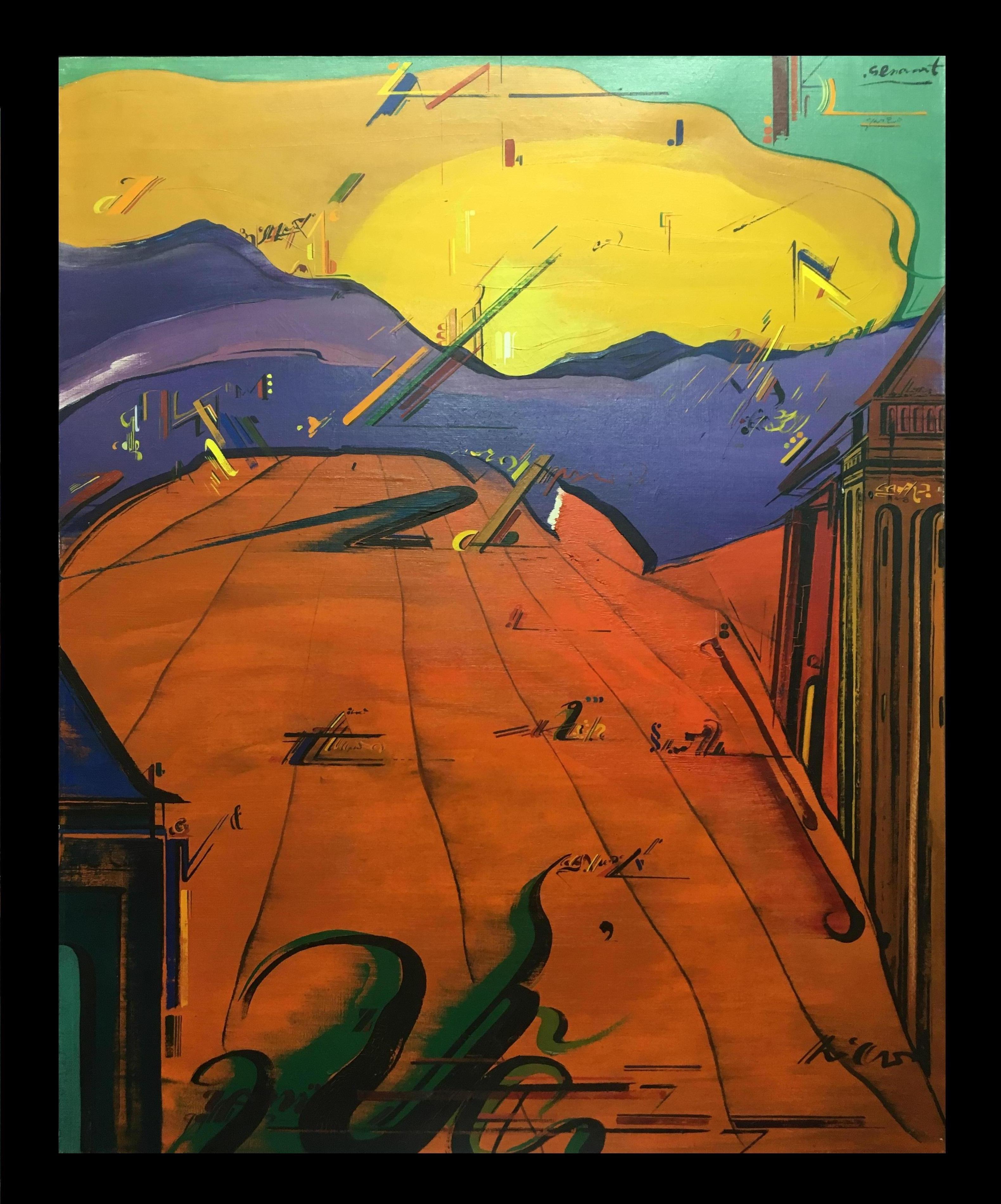 Sevilla original abstract acrylic painting