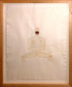 Mother II - Jaume Plensa Mixed Media on Thick Paper Contemporary Painting