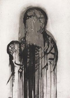 Untitled 2 etching original painting