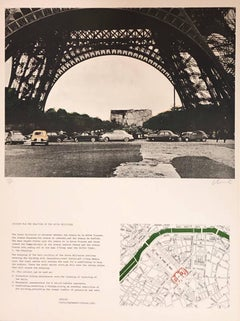 Paris, Eiffel Tower Edifice Public Empaqueté, Project Ecole Militaire Lithograph