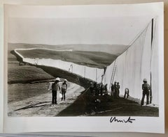 Vintage Silver Gelatin Photograph Christo Wolfgang Volz Photo Running Fence