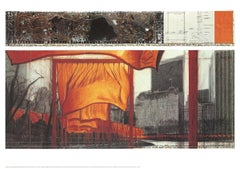 2003 After Javacheff Christo 'The Gates XIX' Contemporary Orange,Red,Gray