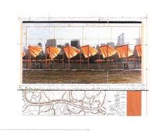 2005 After Javacheff Christo 'The Gates X' Contemporary White,Orange,Brown