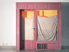 2011 Javacheff Christo 'Wrapped Store Front' Contemporary Pink,White Offset