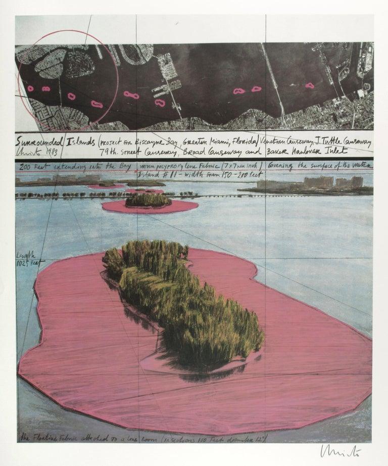 Javacheff Christo Landscape Print - Biscayne Bay, Greater Miami, Florida
