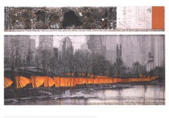 "Javacheff Christo-The Gates XXVII-33.75"" x 48.5""-Poster-2005-Contemporary-Orange"