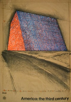 """After Javacheff Christo-Wrapped Oil Barrels, Texas-35"""" x 24""""-Lithograph-1976"""