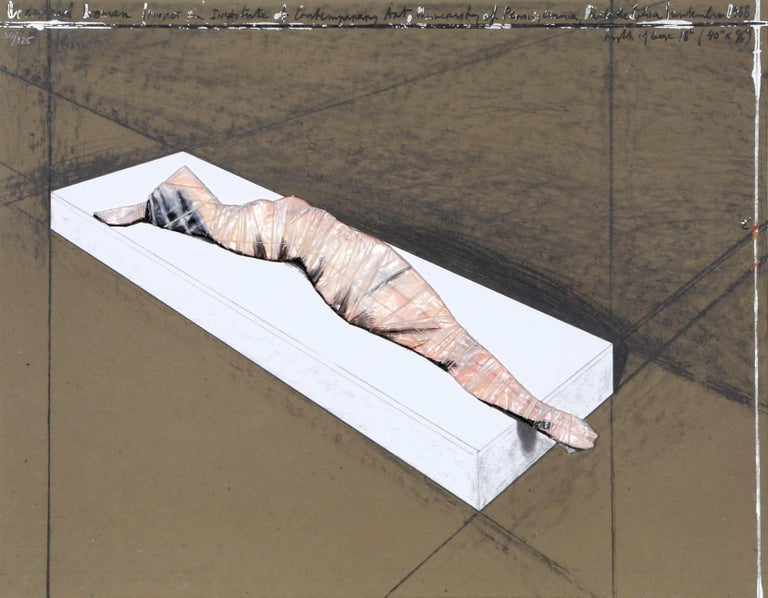 Wrapped Woman for the Institute of Contemporary Art.  University of Pennsylvania - Print by Javacheff Christo