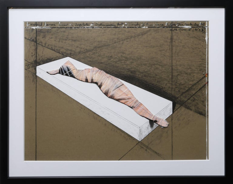 Javacheff Christo Nude Print - Wrapped Woman for the Institute of Contemporary Art.  University of Pennsylvania