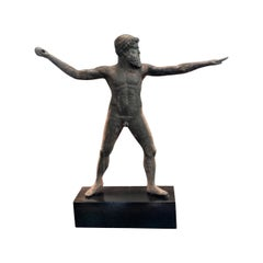 Javelin Thrower Bronze Statue of Zeus of Artemisia Greek God Figure Antiques LA