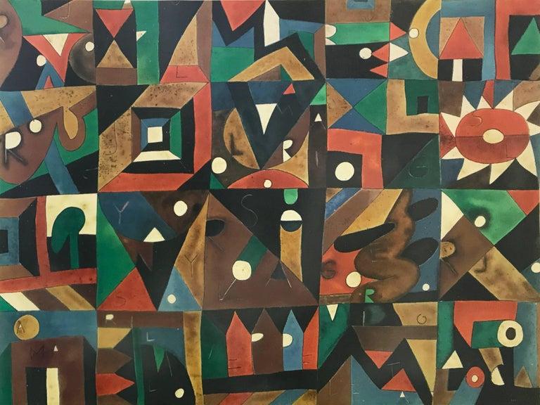 Javier Arévalo Abstract Print - SOLES