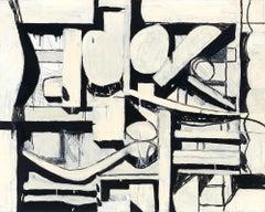 Excavation - monochrome geometric abstraction
