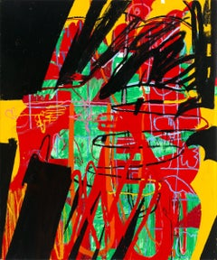 Hamsa - 72 x 60 inches - abstract expressionistic oil on canvas